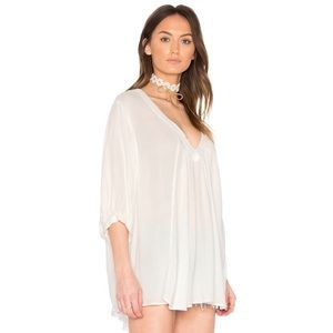 Free People Catch Me If You Can Tee in White